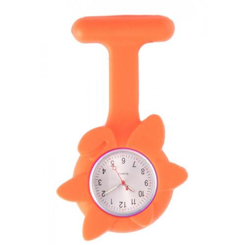 Siliconen Lente Bloem Verpleegstershorloge Oranje