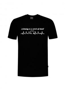 T-Shirt Work of Heart Zwart
