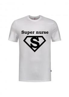 T-Shirt Super Nurse 1 Wit