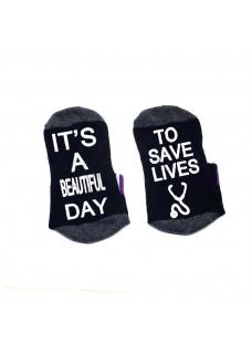 Sokken Zwart Beautiful Day