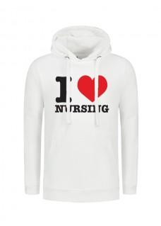 Hoodie i Love Nursing Wit