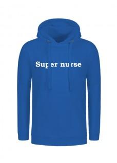 Hoodie Super Nurse Blauw