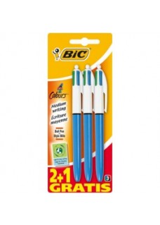 BIC Vier Kleuren Pen 3 stuks