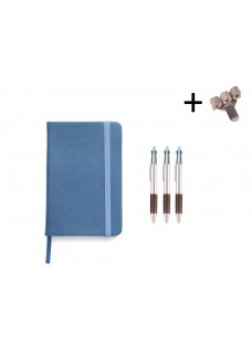 Set Notitieboek A5 + Pennen Blue