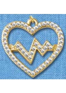 Hanger Heartbeat Goud groot