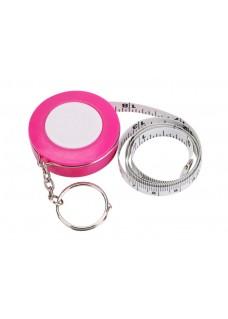 Meetlint sleutelhanger Roze