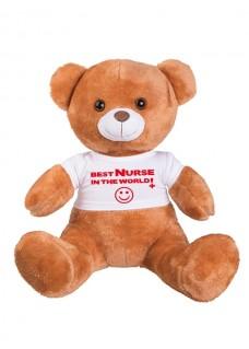 Teddybeer Best Nurse In The World met Naam Opdruk