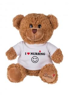 Teddybeer Love Nursing met Naam Opdruk