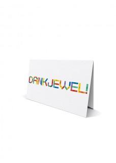 Dubbele wenskaart met envelop: dankjewel
