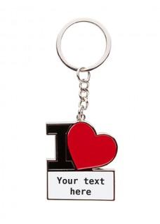 Sleutelhanger I Love Nursing met Naam of Text Opdruk