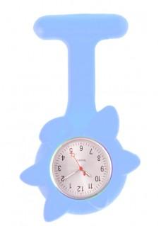 Siliconen Lente Bloem Verpleegstershorloge Blauw