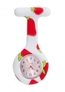Siliconen Horloge Verpleegkundige Aardbei
