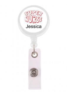 Badge / ID Jojo Super Nurse 2 met Naam Opdruk