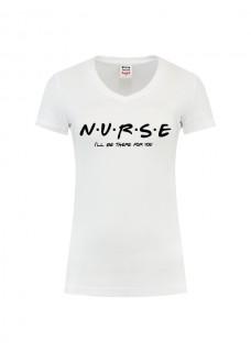 Dames T-Shirt Nurse For You Wit