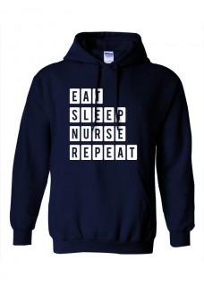 Gildan Hoodie Eat Sleep Nurse Repeat