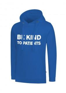 Hoodie Be Kind To Patients Blauw