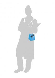 KEEN'S – Verpleegkunde organizer Blauw + GRATIS ACCESSOIRES