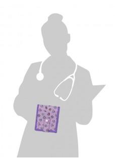 KEEN'S – Verpleegkunde Organizer Symbolen Paars + GRATIS ACCESSOIRES
