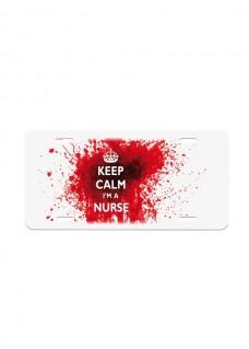 Kentekenplaat Keep Calm Nurse