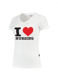 Dames T-Shirt I love Nursing Wit