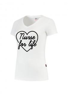Dames T-Shirt Nurse For Life Wit