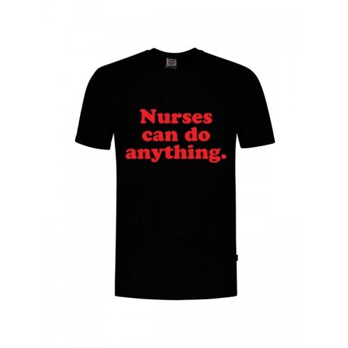 T-Shirt Nurses Can Do Anything Zwart