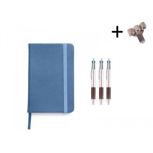 Set Notitieboek A5 + Pennen Blue