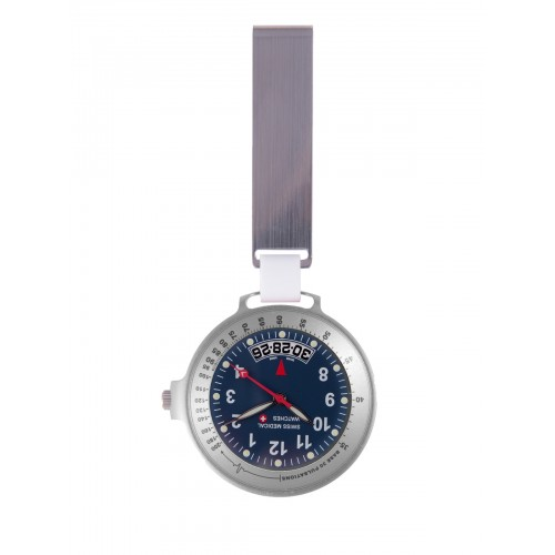 Swiss Medical Horloge Care Line Zilver Blauw - Limited Edition