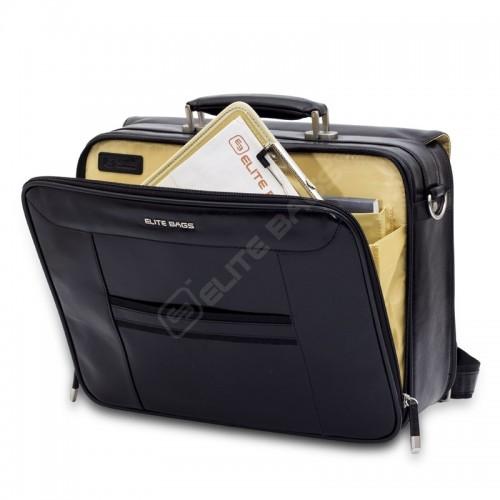 Elite Bags DOCTOR'S Zwart Leder