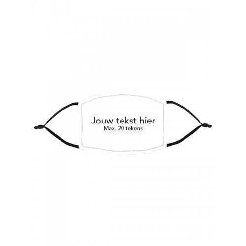 Mondkapje Wit met Naam / Tekst