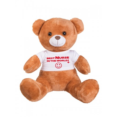 Teddybeer Best Nurse In The World met Naam Opdruk