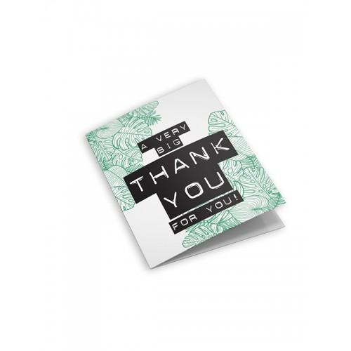Dubbele wenskaart met envelop: a very big thank you to you